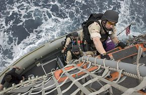 VBSS drill - US, Indian Navy Exercise