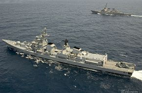 Indian Navy guided-missile destroyer - US, Indian Navy Exercise