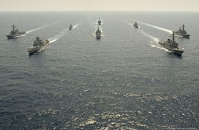 US and Indian Navy ships - Exercise Malabar 07