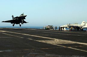 Rafale Fighter Aircraft on US Aircraft Carrier