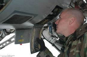 Preflight inspections on an F-16 - US Air Force Exercise