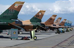 Eight F-16 Fighting Falcons - US Air Force Exercise