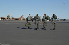 Four F-16 Fighting Falcon pilots - US Air Force Exercise