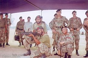 Pakistani army Soldiers during an excercise