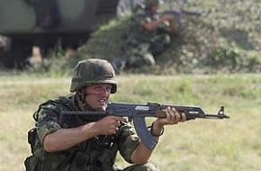 Bulgarian Soldier in Exercise