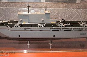 Model of 4th new LPD for the Italian Navy (Fincantieri)