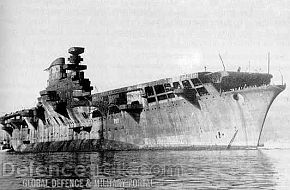 WWII Italian aircraft carrier Aquila