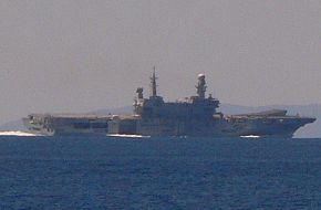 Italian aircraft carrier Cavour in sea trials July 2007