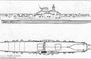 drawing of WW2 Italian aircraft carrier Aquila (Eagle)