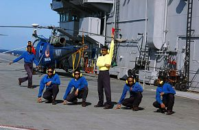 Indian Navy aircraft carrier INS Viraat - Malabar 07 Naval Exercise