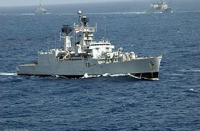 Indian Navy frigate - Malabar 07 Naval Exercise