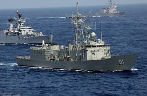 Navy Guided-missile Frigates - Malabar 07 Naval Exercise