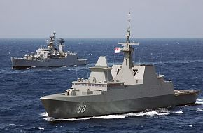 Navy frigate RSS Formidable - Malabar 07 Naval Exercise