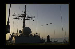 HMAS Kanimbla and 75SQN Hornets, ANZAC Day 2003 Arabian Gulf