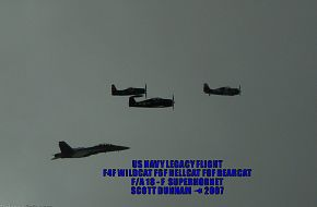 US Navy Legacy Flight