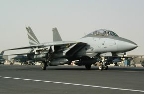 F-14 taxi at Al Udeid Air Base