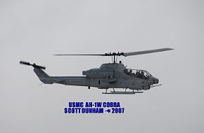 USMC AH-1W Super Cobra Helicopter Gunship