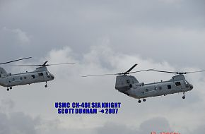 USMC CH-46E Sea Knight Helicopter MAGTF