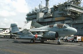 Prowler on USS Kitty Hawk in Singapore 2002