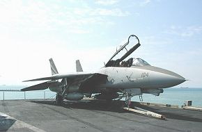 F-14 on USS Kitty Hawk in Singapore 2002