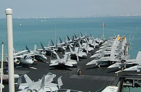 USS Kitty Hawk at Singapore 2002