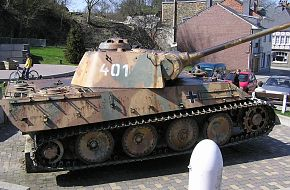 "German tank "" Panther mod.G"" at Houffalize"