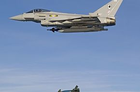 RAF Eurofighter Typhoon Bomb Drop