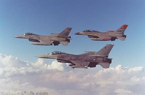 Egyptian, Greek and Jordanian F-16's fly in formation