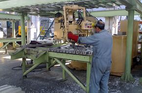 Cutting Aluminum, HIT APC Factory - Pakistan Army