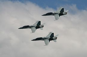 FA-18B Hornets at Royal Hobart Regatta