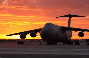 US Air Force (USAF) Lockheed C-5 Galaxy Transport Aircraft