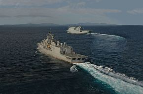 HMNZS Te Mana and HMNZS Canterbury