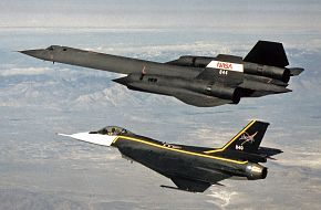 NASA SR-71 and F-16XL Test Aircraft