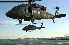 US Army UH-60A Black Hawk Helicopters