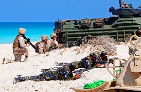 Marines Conduct Amphibious Assault Demonstration