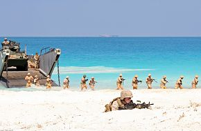 Marines and Sailors assigned to the 22nd MEU
