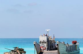 Amphibious landing demonstration at Egyptian beaches