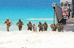 Amphibious Forces conduct an amphibious landing demonstration