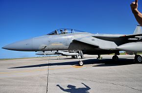 F-15C cleared for Taxi - USAF-JASDF Training Mission