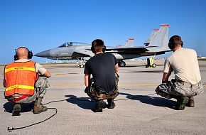 F-15C Eagle Taxi - USAF-JASDF Training