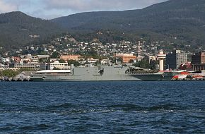 HMAS Manoora L51 in Hobart 23 March 2010