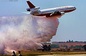 DC-10 Fire Tanker Drop