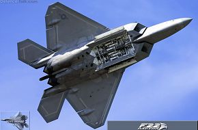 USAF F-22A Raptor Stealth Fighter Weapons Bay