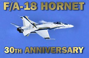 US Navy F/A-18C Hornet - 30th anniversary Paint Scheme