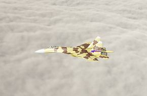 Su-37 in flight - Russian Air Force