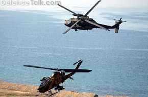 AH-1P Cobra and S-70 in Excercise