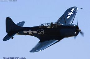 US Navy SBD Dauntless Dive Bomber