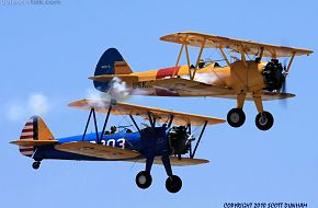 Stearman PT-13 and PT-17 Biplane Trainers