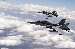 F-18 Hornets during Red Flag 2010