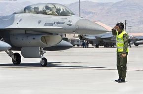F-16 and Crew Chief of the Pakistan Air Force (PAF)